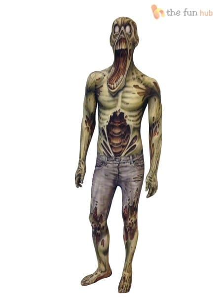 Picture 2 Of 3  Morphsuit Monster Kids Boys Robot Zombie Halloween