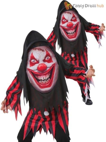 Child Scary Horror Clown Mad Creeper Kids Halloween Fancy Dress