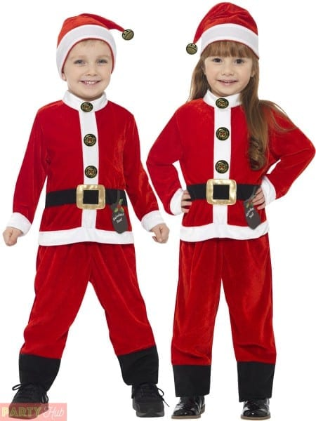 Childs Toddler Santa Claus Costume Boys Father Christmas Fancy