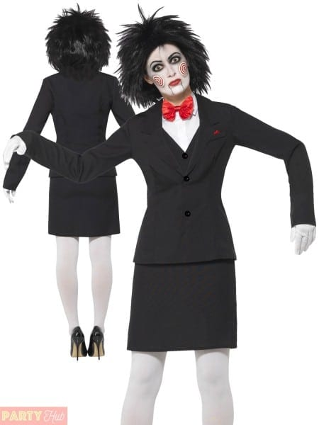 Ladies Saw Jigsaw Licensed Fancy Dress Costume Halloween Outfit