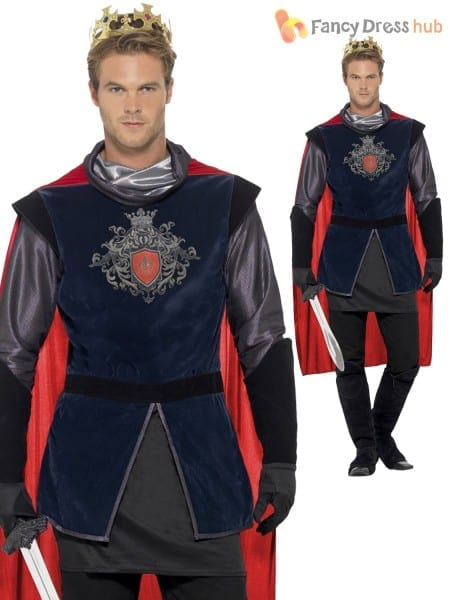 Deluxe Adult Mens King Arthur Knight Prince Medieval Fancy Dress