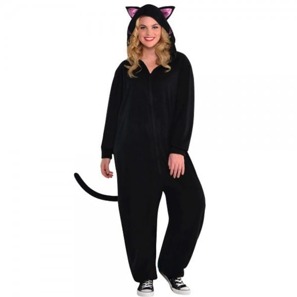 Black Cat Zipster (onesies) Adult Costume Large Xlarge Unisex