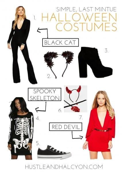Simple, Last Minute Halloween Costumes