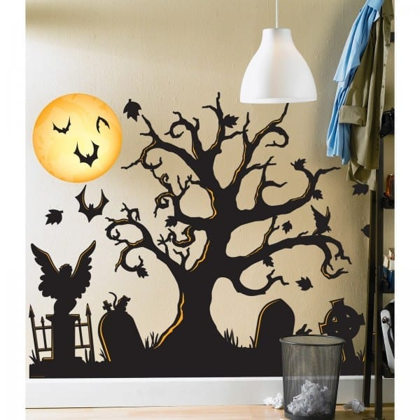 Lovely Halloween Wall Decor Sticker Diy Removable Witch Bat