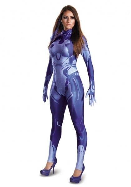 Halo Cortana Bodysuit Costumer Women Costumes4less Promo