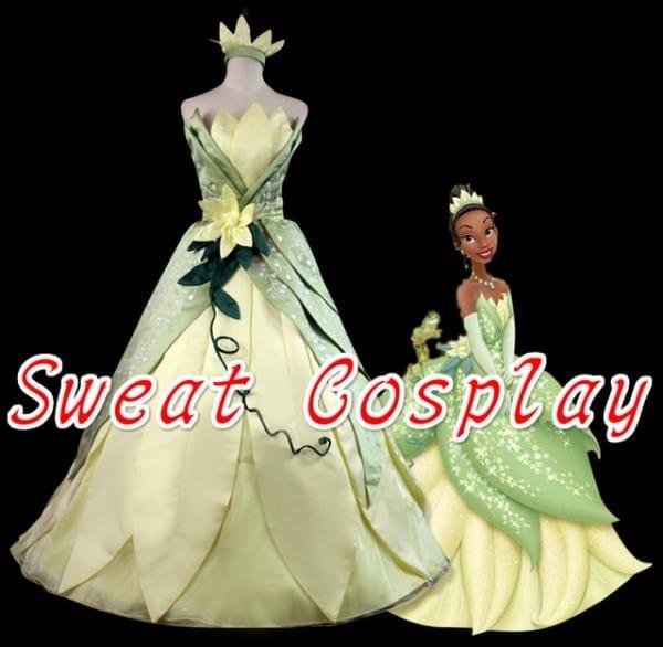 High Quality The Princess And The Frog Tiana Costume Halloween