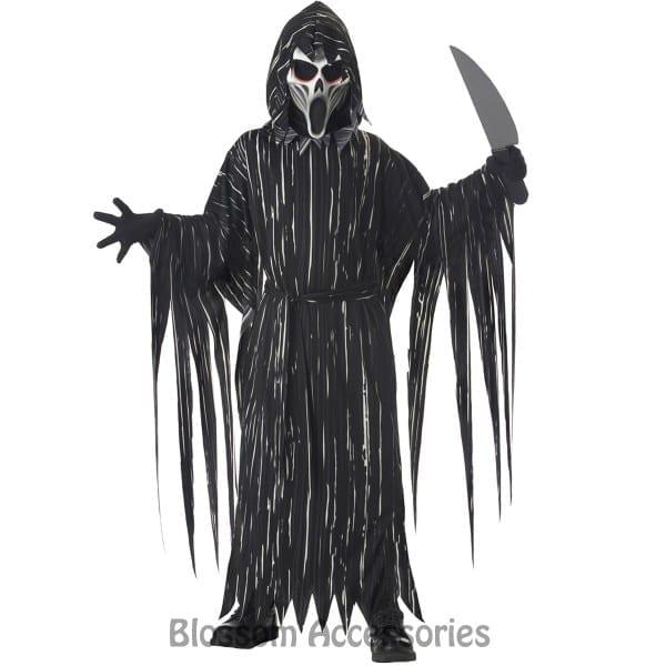 Ck539 Howling Horror Boys Ghost Scream Scary Fancy Dress Up