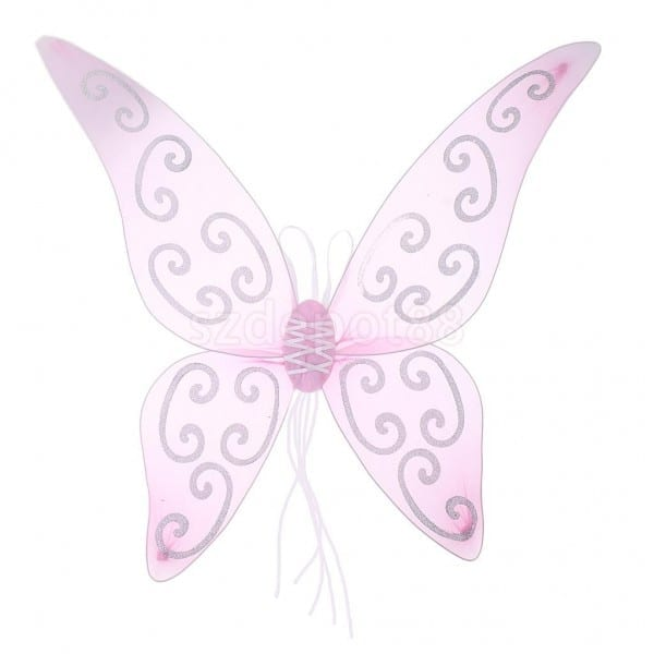 Adults Kids Glitter Soft Tulle Butterfly Wings Angel Fairy Wing