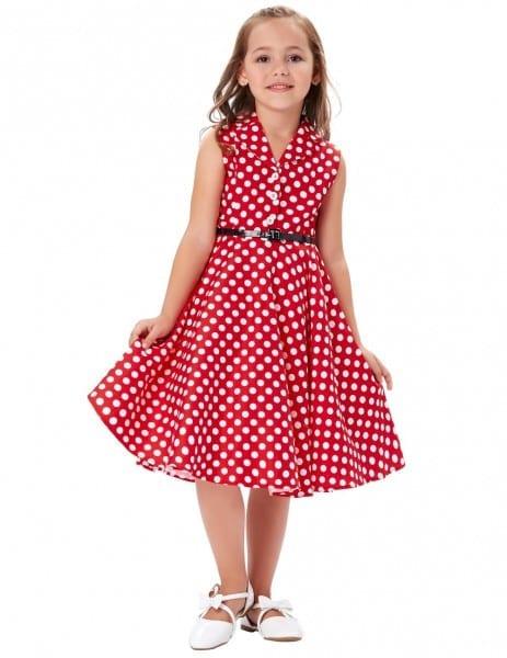 Grace Karin Girls Summer Dress Kids Vintage 50's Dress Retro