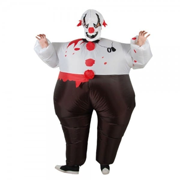 Inflatable Evil Scary Clown Suit Air Blown Halloween Party Costume