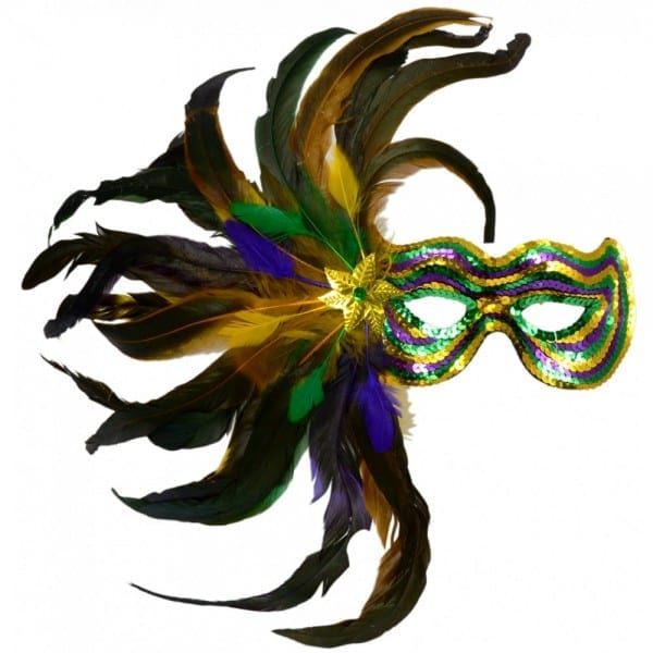 Feather Burst Sequin Mask  Pgg [36012]