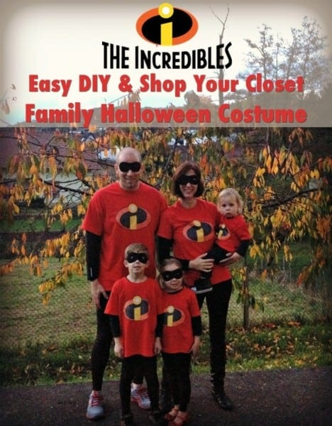 The Incredibles Easy Diy Family Halloween Costume