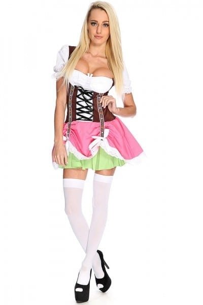 Pink 2 Pc  Sexy Beer Maid Costume