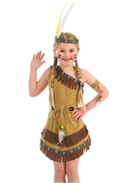 Girls' Indian Girl Fancy Dress Costume