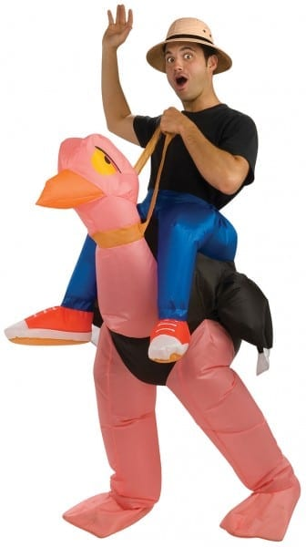 Inflatable Ostrich Rider Inflatable Costume