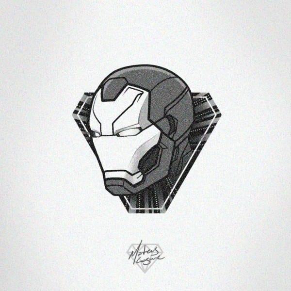 Iron Man Helmet Tattoo Design By Mateuscosme On Deviantart