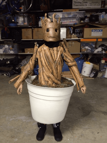 Self] My Son's Baby Groot Costume   How To  Gallery In Comments