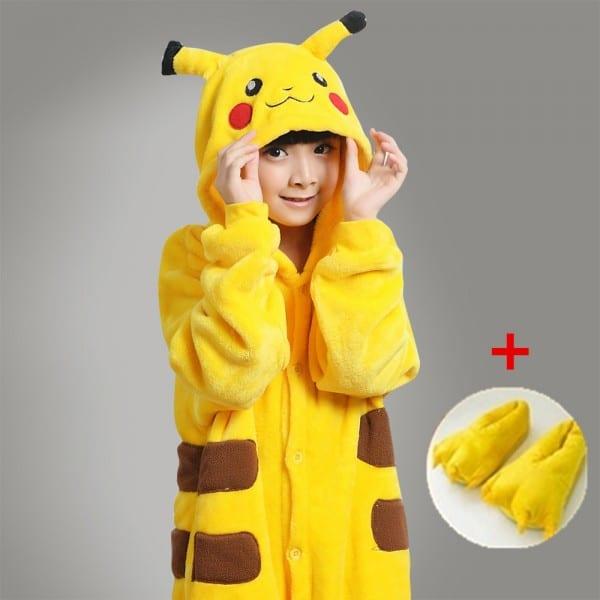 Kids Baby Girls Pocket Monster Pikachu Onesies Costume Child