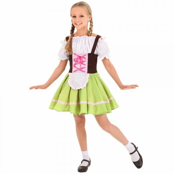 Kids Beer Girl Costume Oktoberfest Waitress Dress Beer Maid