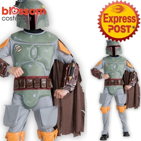 Ck928 Deluxe Boba Fett Star Wars Costume Boys Child Fancy Dress Up