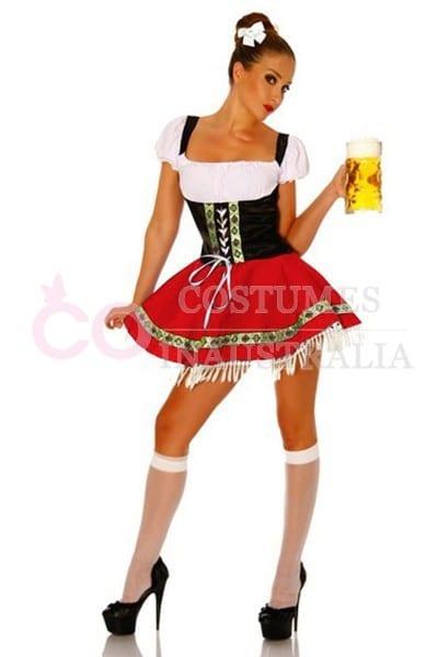 Ladies Beer Maid Costume Wench German Heidi Oktoberfest Gretchen