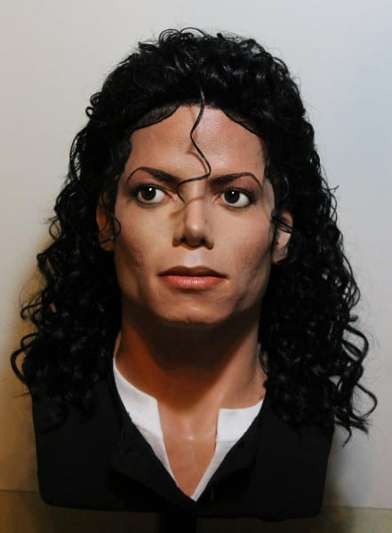 Lifesize Michael Jackson Bad Era Bust (new Wig) By Godaiking On