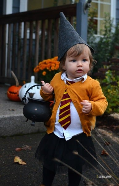 Easy Diy Little Witch Hermione Toddler Halloween Costume