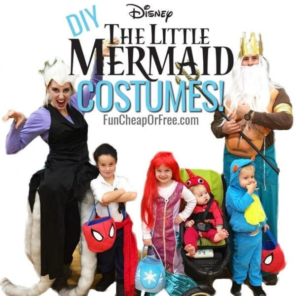 Diy Little Mermaid Costume! Cutest Family Halloween Costumes  Ever