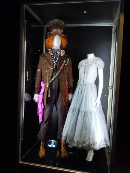 Mad Hatter And Alice In Wonderland Costumes On Display