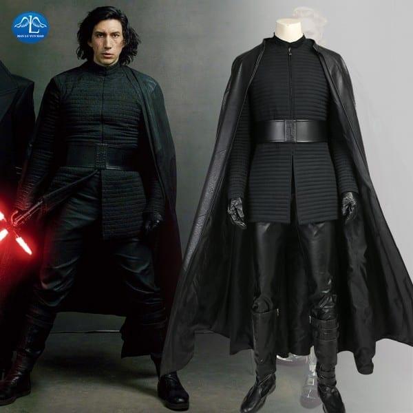 Manluyunxiao New Star Wars The Last Jedi Kylo Ren Costume Men