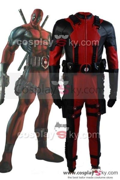 Marvel Comics Deadpool Cosplay Costume In Video Game