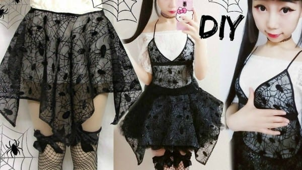 Diy Spider Web Irregular Symmetrical Gothic Costume