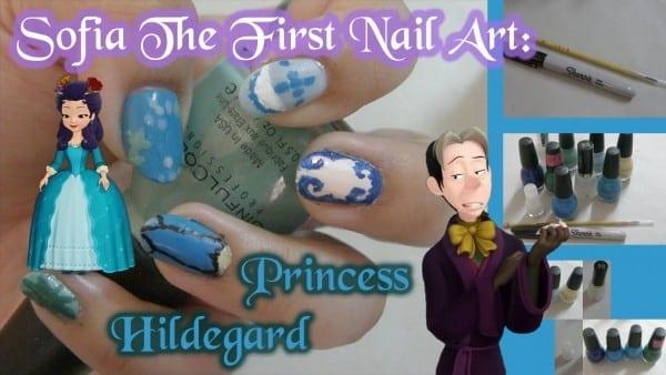 Sofia The First Nail Art  Princess Hildegard (original)