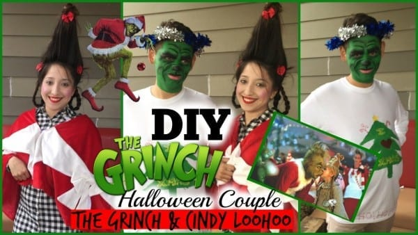 Diy Couple Halloween Costume  The Grinch And Cindy Loowhoo
