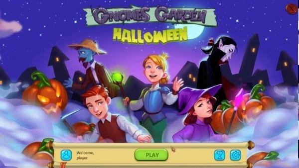 Gnomes Garden Halloween (gameplay) Hd
