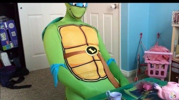 Rubie's Adult Costume Leonardo 2nd Skin  Tmnt Ninja Turtle Costume