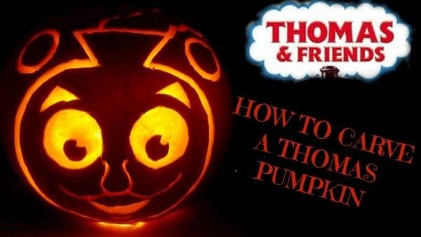 Pumpkin Carving Tutorial Thomas The Tank Train