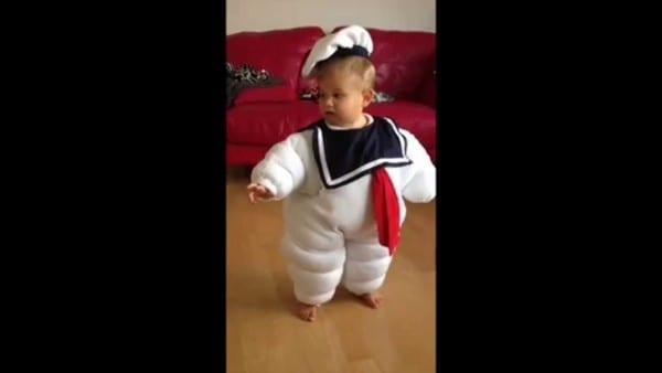 Stay Puft Marshmallow Man Baby Costume! Happy Halloween Cael
