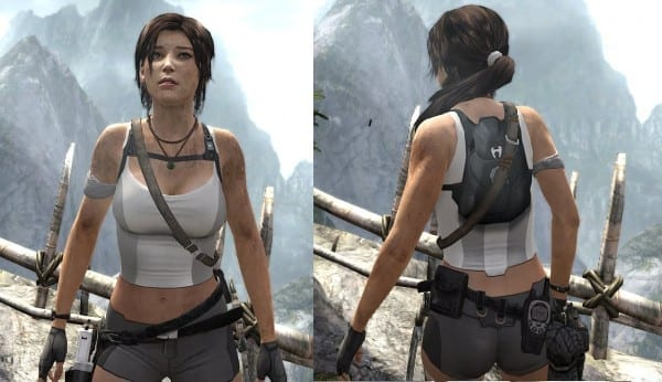 Tomb Raider 2013 Underworld Jungle Shorts Grey Outfit Mod