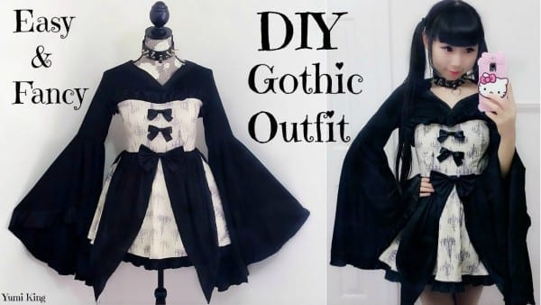 Easy Diy Gothic Emo Inspired Outfit Dress + Back To School Outfits