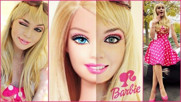 Barbie Makeup Tutorial & Costume Idea! Halloween 2014