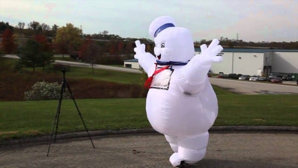 Stay Puft Marshmallow Man Inflatable Lawn Decoration Costume