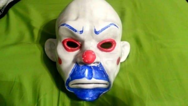The Joker Dark Knight Bank Heist Mask Review
