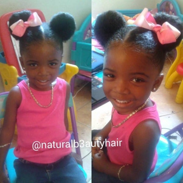 How To Do Minnie Mouse Ears On Natural Toddler Hair
