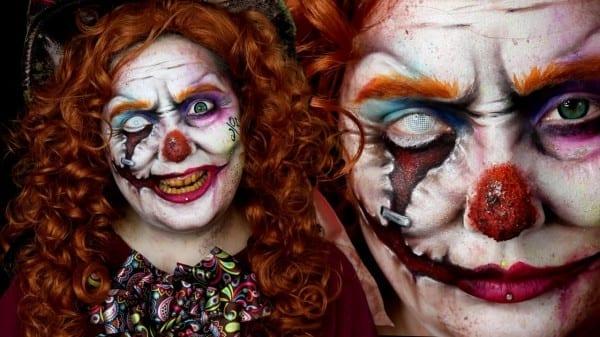 Mad Hatter Evil Clown Wonderland Makeup Tutorial