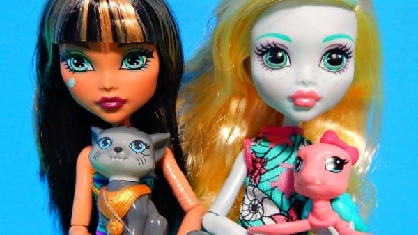 Monster High Ghoul's Beast Pet Dolls Cleo De Nile & Lagoona Blue W