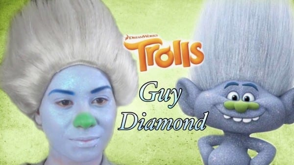 Trolls  Guy Diamond  Makeup Tutorial! For Halloween 2017