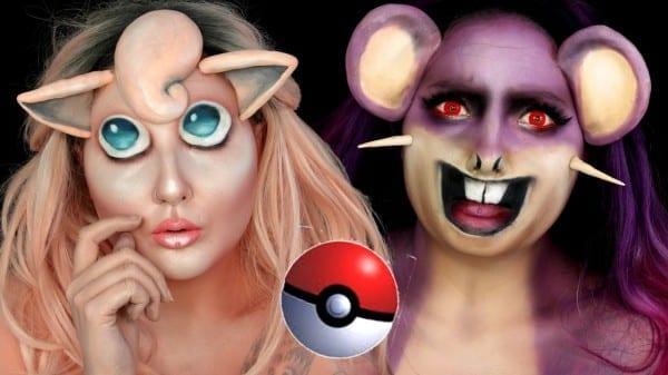 Pokemon Jigglypuff & Rattata Halloween Makeup Tutorial