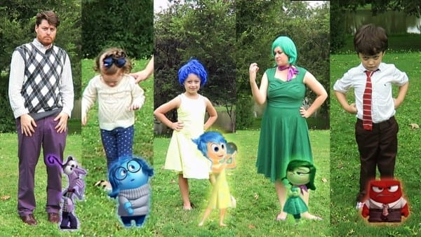 Diy Inside Out Family Halloween Costumes And Disneybounding
