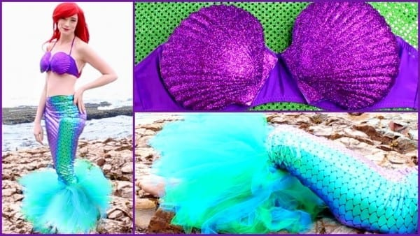 Diy Ariel Halloween Costume, Disney's The Little Mermaid